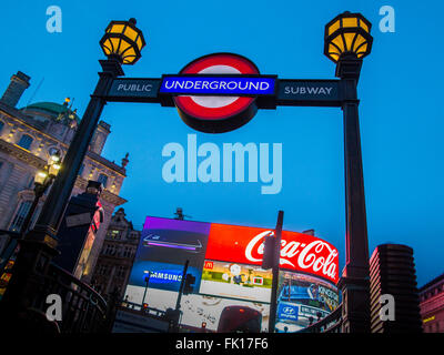 Piccadilly Underground station - Stock Photo