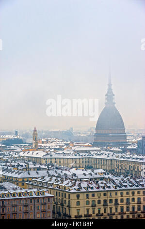 Turin, Italy. 5th March, 2016. Italy Piedmont Turin Panorama with Mole Antonelliana Credit:  Realy Easy Star/Alamy - Stock Photo
