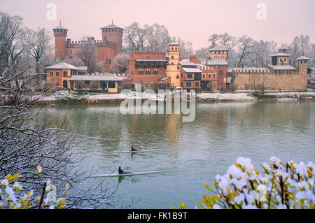 Turin, Italy. 5th March, 2016. Italy Piedmont Turin Park of Valentino, Borgo Medioevale - Reconstrution of a Medieval - Stock Photo