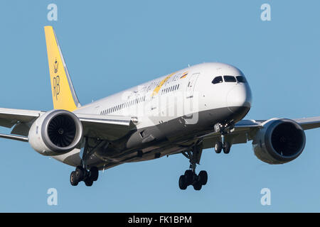 Royal Brunei Airlines Boeing 787-8 Dreamliner V8-DLD - Stock Photo