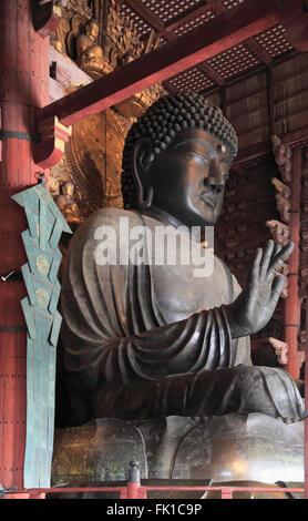 Japan, Nara, Todaiji Temple, Great Buddha, Daibutsu, - Stock Photo