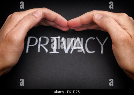 Privacy. Security of personal data. Internet concept. Data Protection. - Stock Photo
