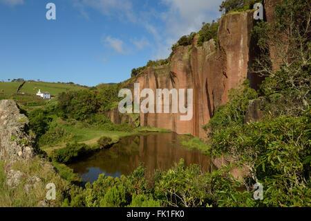 Poço da Pedreira. Santa Maria Island. Archipelago of the Azores. Portugal. Atlantic. Europe. - Stock Photo