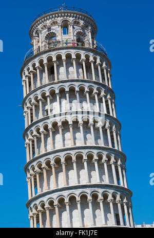 Pisa, Pisa Province, Tuscany, Italy.  The Leaning Tower of Pisa in the Campo dei Miracoli, or Field of Miracles. - Stock Photo