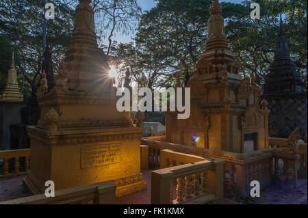 Relic of High Monk in Siem Reap - Stock Photo