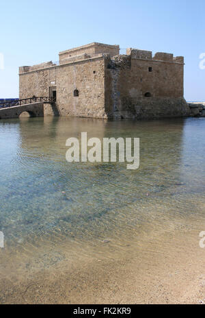 Cyprus. Paphos Castle. View of the castle from the city. - Stock Photo