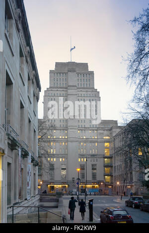 The Art Deco Senate house building, administrative HQ of the University of London and the inspiration for Orwell's - Stock Photo