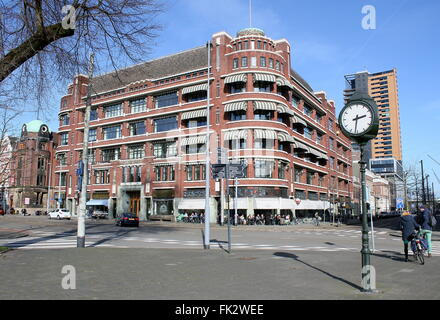 Early 20th century monumental building at Westerstraat & Westplein, Rotterdam Netherlands. Now Grand café & Restaurant - Stock Photo