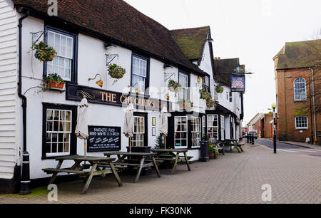 Billericay Essex UK - The Chequers Pub in the High Street - Stock Photo