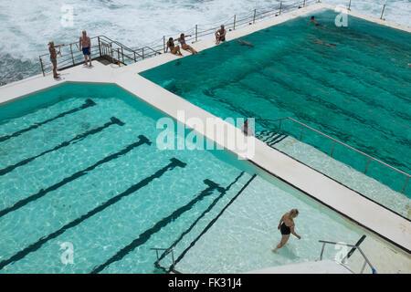 Bondi Icebergs Swimming Pool Sydney Nsw Australia Stock