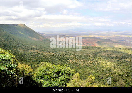 Rift Valley Panorama seen from Uplands, Kenya - Stock Photo