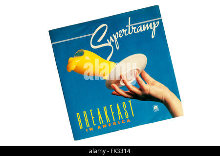 Breakfast in America was the title track from Supertramp's 1979 album of the same name. - Stock Photo