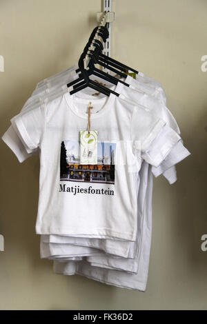 Souvenir tee shirts on sale at Matjiesfontein in the Western Cape of South Africa - Stock Photo
