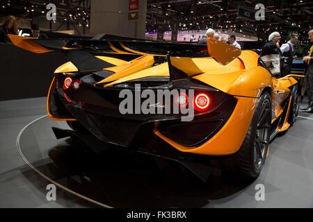 Apollo Arrow supercar at the Geneva Motor Show 2016 - Stock Photo