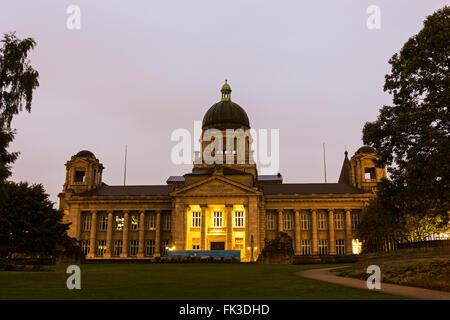 Hanseatic Higher Regional Court building in Hamburg in Germany - Stock Photo