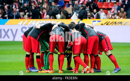 Gijon, Spain. 6th March, 2016. Players of Athletic Club during the football match of Spanish 'La Liga' between Real - Stock Photo