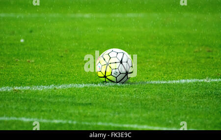 Gijon, Spain. 6th March, 2016. The ball during the football match of Spanish 'La Liga' between Real Sporting de - Stock Photo