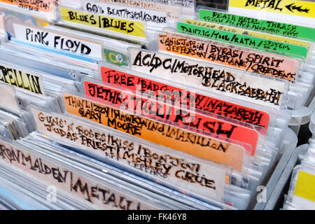 Secondhand Records For Sale On A Stall In The Grassmarket
