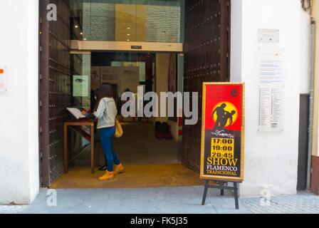 Museo del baile flamenco, Flamenco museum, Sevilla, Andalucia, Spain - Stock Photo