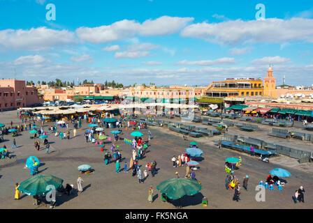 Jemaa el-Fnaa, medina, Marrakesh, Morocco, northern Africa - Stock Photo
