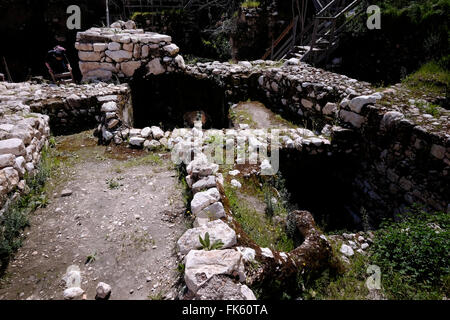 View of ruins of Ir David or City of David a major archaeological site near the Temple mount in East Jerusalem which - Stock Photo