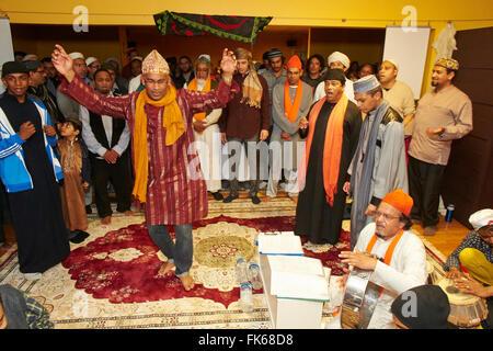 Sufi dikhr in Paris, France, Europe - Stock Photo