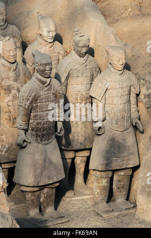 Museum of the Terracotta Warriors, Mausoleum of the first Qin Emperor, Xian, Shaanxi Province, China, Asia - Stock Photo