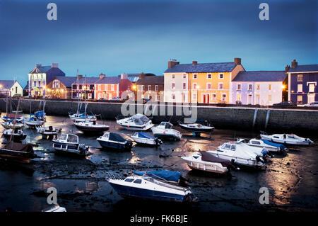 Aberaeron Harbour, West Wales, United Kingdom, Europe - Stock Photo