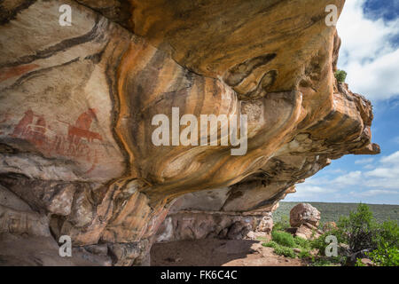 San rock art, Cederberg mountains, Western Cape, South Africa, Africa - Stock Photo
