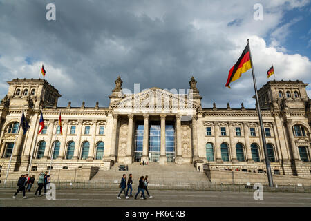 The Reichstag (German Parliament building), Mitte, Berlin, Germany, Europe - Stock Photo