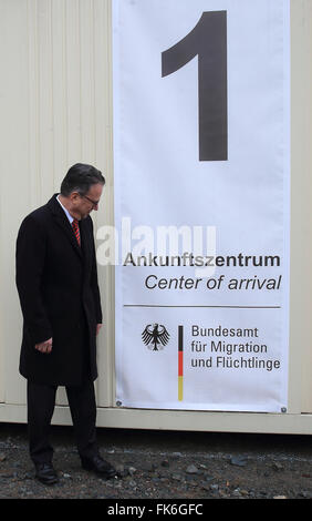 Halberstadt, Germany. 7th Mar, 2016. Frank-Juergen Weise, Head of the Federal Office for Migration and Refugees, - Stock Photo