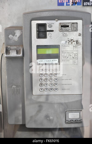 Gt Portland Street, London, UK. 7th March 2016. BT telephone box closed due to lack of use. Credit:  Matthew Chattle/Alamy - Stock Photo
