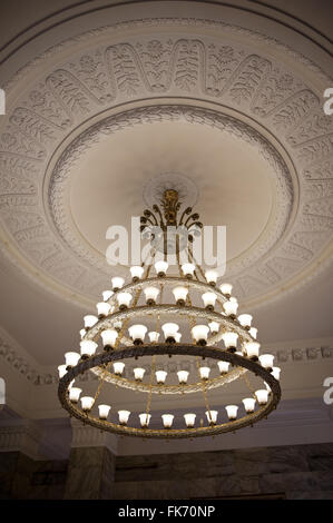 A chandelier ornate ceiling light fixture from the time of the ornate chandelier ceiling fixture in pkin polish the palace of culture and science in warsaw aloadofball Choice Image