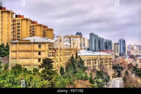 View of Baku city - Stock Photo