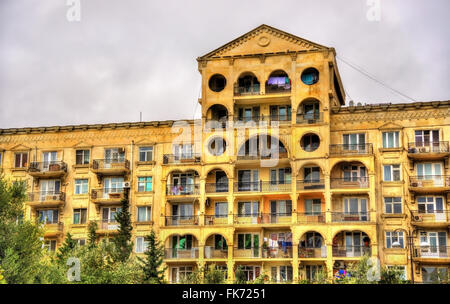 Residential building in the city centre of Baku - Stock Photo