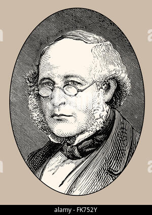 Sir Rowland Hill, 1795-1879, an English teacher, inventor and social reformer - Stock Photo