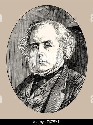 John Bright, 1811 - 1889, a British politician, Manchester Liberals, - Stock Photo