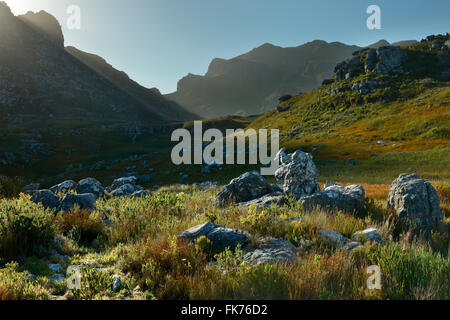 the mountains of Hottentots-Holland, western Cape, South Africa - Stock Photo
