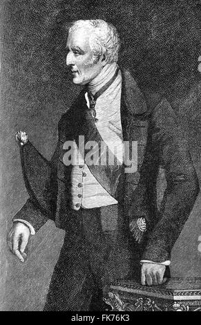 Arthur Wellesley, 1st Duke of Wellington, 1769-1852, field marshal and a British military leader, foreign minister - Stock Photo