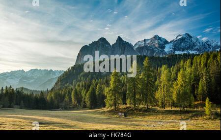 Passo Tre Croci, Dolomite Mountains,  Belluno Province, Veneto, Italy - Stock Photo