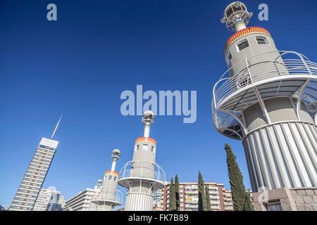 Parc de l´Espanya Industrial. Barcelona. - Stock Photo