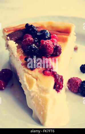 portion of cheesecake - Stock Photo