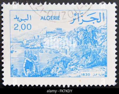 ALGERIA - CIRCA 1984: A stamp printed in Algeria shows Bejaia, circa 1984 - Stock Photo