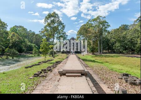 Entry of Angkor Baphuon, a long path - Stock Photo
