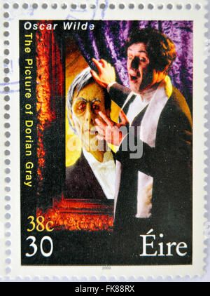 IRELAND - CIRCA 2000: stamp printed in Ireland shows an image commemorative of The picture of Dorian Gray a novel - Stock Photo
