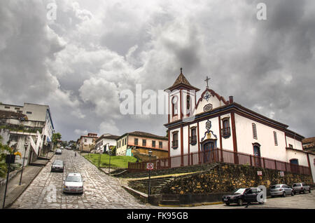 Church of Sao Francisco de Assis, construction of the eighteenth century, historic center Stock Photo