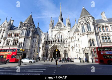 Exterior of The Royal Courts of Justice London U.K. - Stock Photo