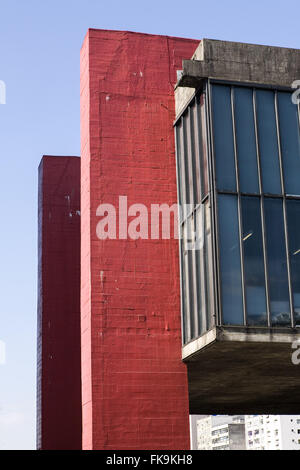 Details MASP Museum of Art Sao Paulo Assis Chateaubriand at Avenida Paulista