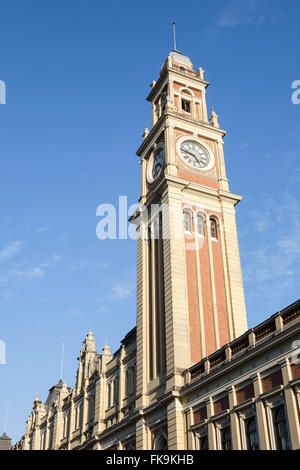 Tower of Light Station which houses the Museum of the Portuguese Language - Light district - the city center - Stock Photo