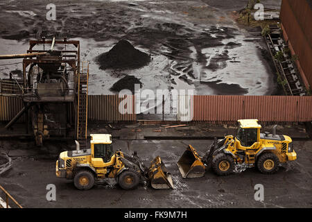 Pas loaders in the coal yard - Stock Photo